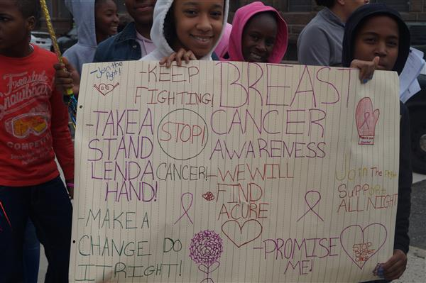 The MPTCS Middle School Marches for Cancer Awareness