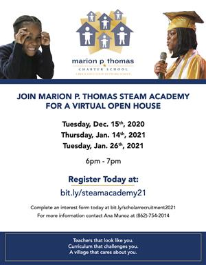 STEAM Open House Dates