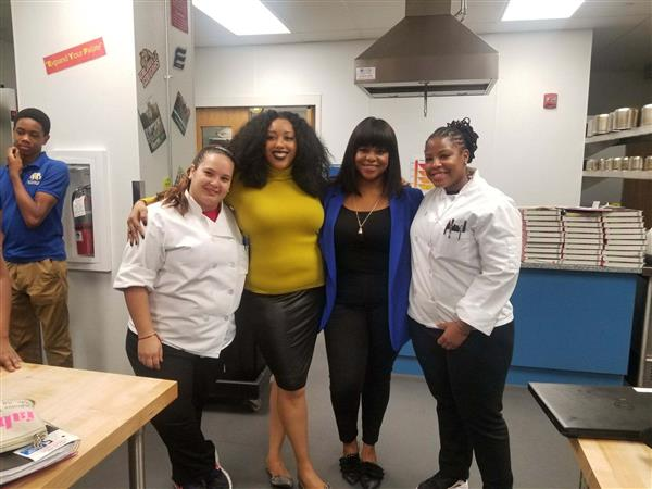 Food Network Chef visits the Village