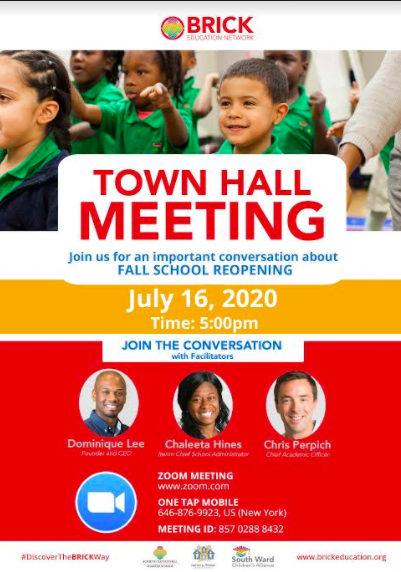 Join us for our Parent Town Hall Meeting on July 16th.