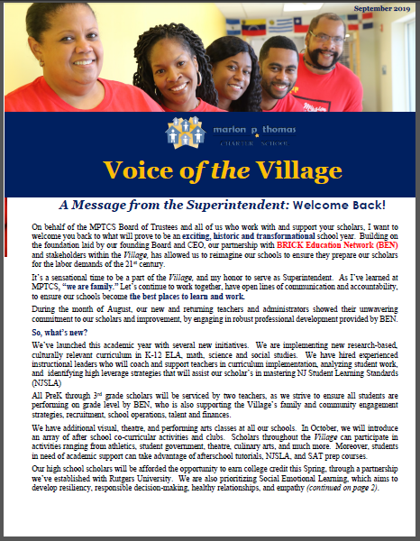 Voice of the Village (September 2019)