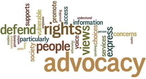 advocacy word art