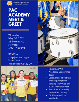 Want to find out more about all the new and exciting programs coming to PAC Academy next year?  Join us for the PAC Meet & Greet on Thursday, May 30th at 6 p.m.