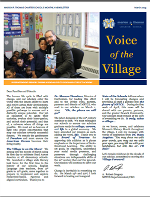 Voice from the Village - Monthly Superintendent Message - March 2019 - A. Robert Gregory