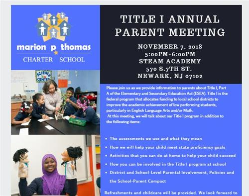 Title 1 Annual Parent Meeting